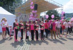 Vystoupení na podporu boje proti rakovině prsu